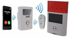 Battery Powered 3G GSM PIR Alarm with Wireless External Siren (3G UltraPIR)