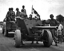 New 8x10 Korean War Photo: Korean Anti-Tank Gun, Evacuation of Suwon Airfield