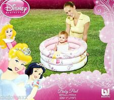 Bestway Disney Princess Baby Kids Infant Inflatables 3 Ring Swimming Pool Summer