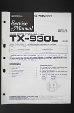 PIONEER TX-930L Digital Tuner Original ADDITIONAL Service-Manual/Schaltplan o105