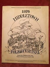 VERY RARE 1976 MIddletown Folk Festival Program Jay Ungar Archie Fisher Bok