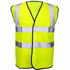 HI VIS VIZ VEST HIGH VISIBILITY WORK WAISTCOAT REFLECTIVE SAFETY SECURITY TOP