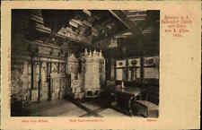 ZÜRICH ~1900/10 alte Postkarte Schweiz Zimmer Seidenhof mit Ofen v. L. Pfau
