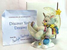 "Enesco Starlight Starbright Discover Your Dreams Unicorn 3.5"" Figurine Moon Pony"