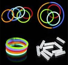 "100 pieces 8"" Assort Color Glow Stick Bracelet Necklace Holiday Party Supply Lot"