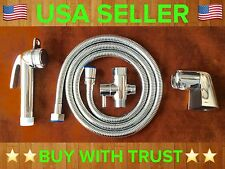 Chrome ABS Toilet Bidet Shattaf Muslim Shower With Brass T-adapter
