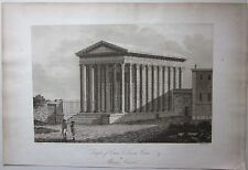 1794 TEMPLE OF CAIUS LUCIUS CAESAR OR MAISON CARRÉE A. Beaumont Apostool Nîmes