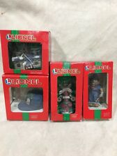 Charisma/ Lionel Lot of 4 Porcelain Lighted & Un-lighted Train Ornaments Coll :