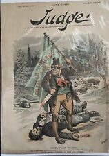 VINTAGE 1889 JUDGE MAGAZINE COVER IRISH FREEDOM IRELAND BERNHARD GILLAM COVER