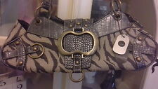 Charlotte Reid London Grey Grab shoulder tote handbag new with tags