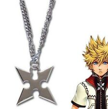 Anime Kingdom Hearts Sora Roxas Cross Metal Pendant Necklace Chain Loose Pack
