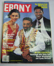 Ebony Magazine Spike Lee, Denzel Washington, Cynda Williams Sept 1990 032713R
