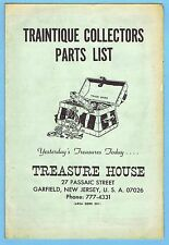1960's TREASURE HOUSE CATALOG BROCHURE TRAINTIQUE COLLECTORS PARTS LIST
