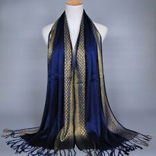 Womens Ladies Muslim Long Cotton Shawl Scarf Tassel Scarves Stole Wrap Pashmina