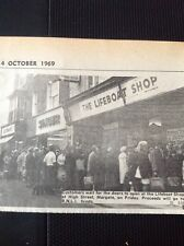 A1-1 Ephemera 1969 Picture Margate Lifeboat Shop Opens R N L I