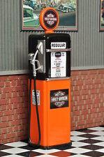 Zapfsäule Tanksäule Harley Gas Pump Tankstelle Diorama Deko Modell Zubehör 1/18