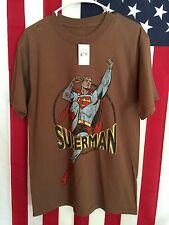 New, SUPERMAN, Brown, Short Sleeve T-Shirt