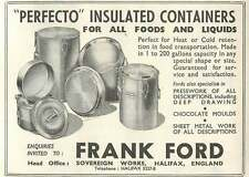 1953 Frank Ford Sovereign Works Halifax Insulated Containers Ad
