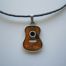 Western Cowboy Country music guitar Charm Boy Girl Necklace Pendant Jewelry