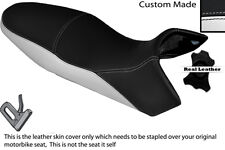 BLACK & WHITE CUSTOM FITS KTM 1190 R ADVENTURE 13-14 DUAL LEATHER SEAT COVER