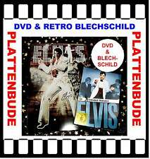 "SPARPREIS: ELVIS PRESLEY im Set: DVD ""Double Trouble"" + RETRO BLECHSCHILD * NEU"
