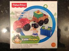 Fisher price little people farm tractor & trailer set brand new boxed, 1-5 ans.