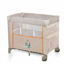 NEW HAUCK DREAM N CARE CENTER BASSINETTE TRAVEL COT ANIMALS WITH DROP SIDE