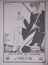 PUBLICITÉ 1919 LA FLEUR DE FRANCE CRÉATION D'ORSAY - ADVERTISING