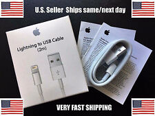 Lot Of 25 2M/6FT New OEM Original Apple iPhone 7 6 5s Lightning USB Data Cable