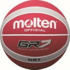 Molten Official Gripped indoor Outdoor Basketball Red Silver GR Size 7