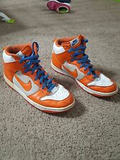 Nike Dunk High Men's Shoes Size 11.5 Orange Blaze White varsity blue syracuse