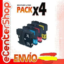 4 Cartuchos LC980 NON-OEM Brother MFC-255CW / MFC255CW 24H