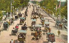 Tarjeta Postal Sevilla Paseo de Coches en la Feria facsimil (CG-701)