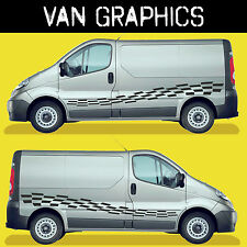 Camper Motorhome Graphics, Chequered Flag Decal, Surf Van Stickers VGMH021