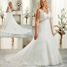 Plus Size White/Ivory Wedding Dress Bridal Gown Custom Size12 14 16 18 20 22 +++