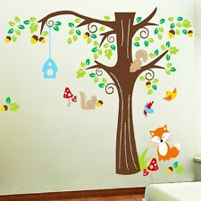 213cm*190cm Forest fox squirrel New Vinyl Wall Sticker Decal Mural Home Decor