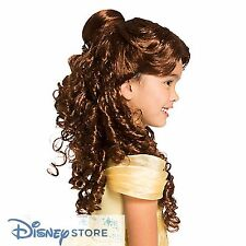 NEW Disney Store Beauty and the Beast Princess Belle Wig Costume Dress up Girls