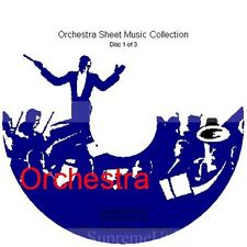 Massive Professional Orchestra Sheet Music Collection Archive Library on 3 DVD's