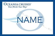 4x6 Magnetic Name Tag for your Cruise Stateroom Door - OCEANIA CRUISE LINE
