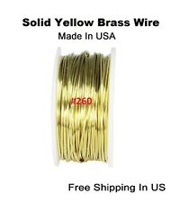 BRASS WIRE 20GA  85FT. 1/4 LB. SPOOL RAW YELLOW JEWELERS ROUND BRASS (SOFT)