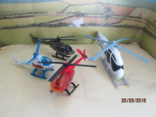 LOT OF 4 HELICOPTER  MODELS FOR RESTORATION VARIOUS MAKES