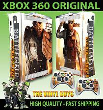 XBOX 360 BATTLEFIELD HARDLINE SKIN STICKER ACCESSORIES & 2 CONTROLLER PAD SKINS