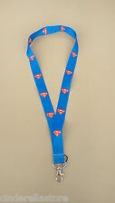 Lanyards accessories Office ID card holder -Super Man/Super Hero-Blue