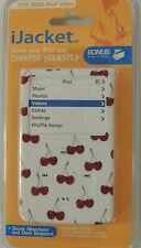 iJACKET iPOD 30Gb VIDEO CHERRIES CHERRY CASE COVER PROTECTOR W BELT CLIP NEW
