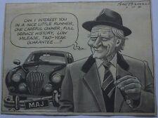 Arthur Daley George Cole Michael Heseltine Brookes Times Newspaper Cartoon