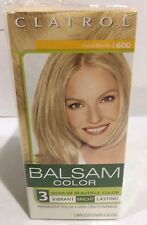 1 Box Of  CLAIROL BALSAM Color Hair (Dye) #600 PALEST BLONDE Permanent