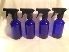 4-8 oz.(240ml) Cobalt Boston Round GLASS Spray Bottles w/ Trigger spray SECONDS
