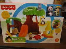 Fisher Price Little People New Animal Treehouse Zoo Tree House Panda elephant
