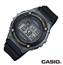 Casio Classic Watch * W216H-1B Illuminator Digital Black Resin COD PayPal
