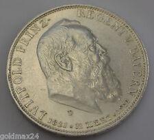 5 Mark Silbermünze Dt. Kaiserreich 1911 D - Luitpold Prinz-Regent v. Bayern